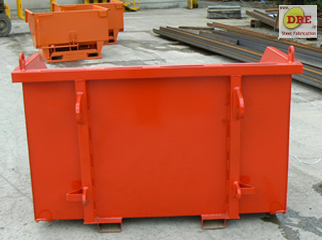 forklift direct mount skip bin cone ireland